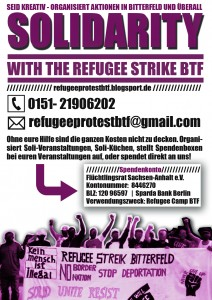 refugee strike spende